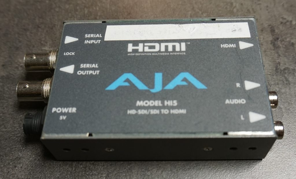 AJA HI5 Hire SDI to HDMI converter Hire