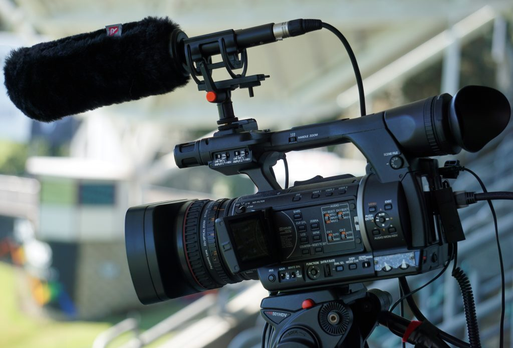 Panasonic AGAC160 from our HD camera hire service with ME66 microphone