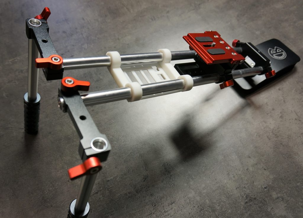 Shoulder rig hire universal camera wount with 75mm rail system