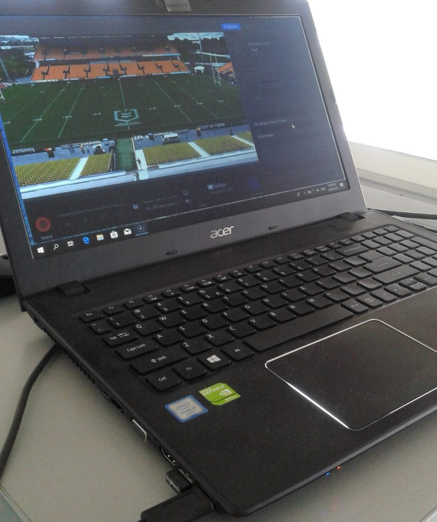 Sports Video Recording with a single camera and software based recording system
