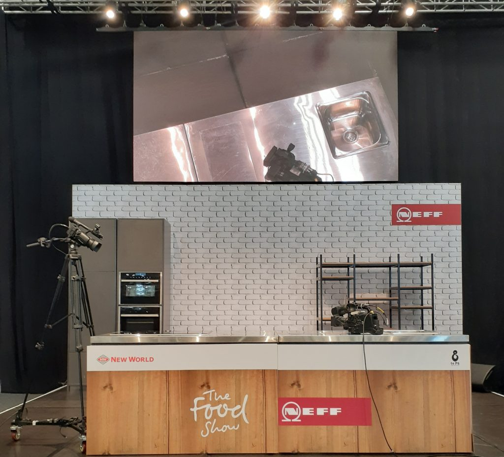 The Food Show Auckland 2019 main stage from the audiences perspective