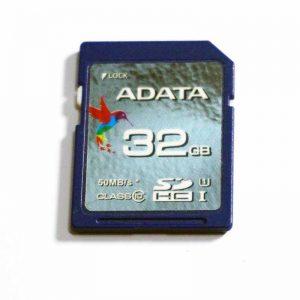Adata 32gb SD card. SDHC, Class 10, 50mb/s